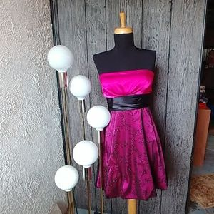 Homecoming/Prom Dress - Pink and Glittery